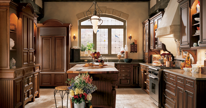 old english design kitchen